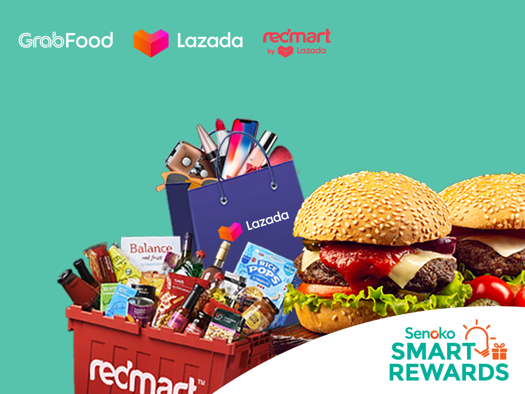 Redeem e-vouchers from GrabFood, Lazada & Redmart